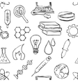 Seamless sketch science pattern vector