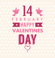 Valentines day typography badge stamp and design vector