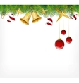 Christmas card ornament hanging on the tree vector