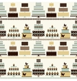 Seamless pattern with decorative cakes vector