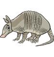 Armadillo animal cartoon vector