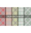 Plaid patterns set vector