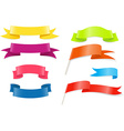 Colored ribbons and flags vector