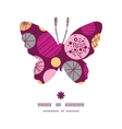 Abstract textured bubbles butterfly silhouette vector