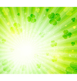 Glowing abstract background with leaves clover vector