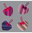 Set of bubbles stickers labels tags shape of vector