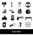 Election black simple icons set eps10 vector