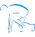 Blue silhouette runner vector