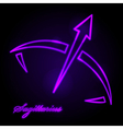 Sagittarius glowing sign vector