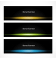 Set of bright glowing banners vector