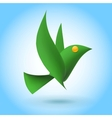 Green bird ecology element vector