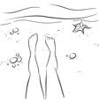 Legs and beach vector