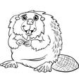Beaver animal cartoon coloring page vector