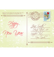 Vintage style back of new years greeting vector