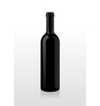 Bottle of wine blank vector
