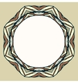 Ethnic round ornamental frame abstract background vector