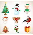 Christmas symbol set vector