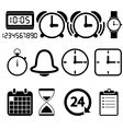 Clock and time icons vector
