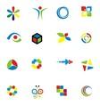 Set of colorfull design element vector