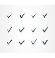 Check mark icons set vector