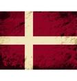 Danish flag grunge background vector