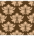 Floral seamless pattern with beige flowers on vector