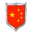 China flag button vector