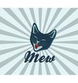 Retro of cat vector