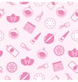 Cosmetics seamless pattern vector