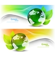 Set of ecology banners vector
