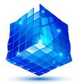 Plastic pixilated glossy 3d cybernetic model vector