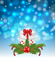 Christmas gift box with holiday decoration - vector