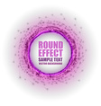 Fireworks circle purple white with text vector