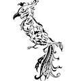 Floral stylized bird vector