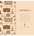 Landmarks of egypt background vector