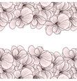 Geranium flowers background vector