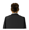 Man in suit from back or rear view vector
