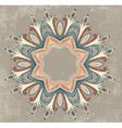 Vintage colorful round ornamental frame vector