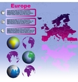 Europe map on blue background vector