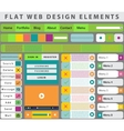 Web design elements buttons icons vector