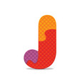 Letter j written with alphabet puzzle vector