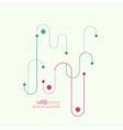 Abstract background with curved lines dotted vector