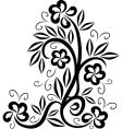 Floral tattoo symbol vector