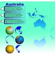 Australia map on blue background vector
