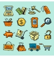 E-commerce color icons set vector