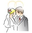 Wedding ring couple vector