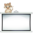 A bulletin board with a cat vector