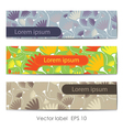 Set of three floral cards vector