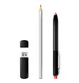 Pen flash pencil vector