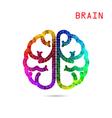 Colorful brain symbol vector